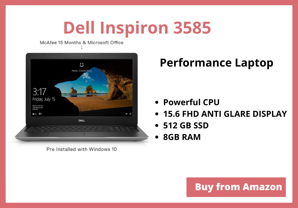 Best 15.6 inch laptops under 50000 Rs, Dell inspiron 3585